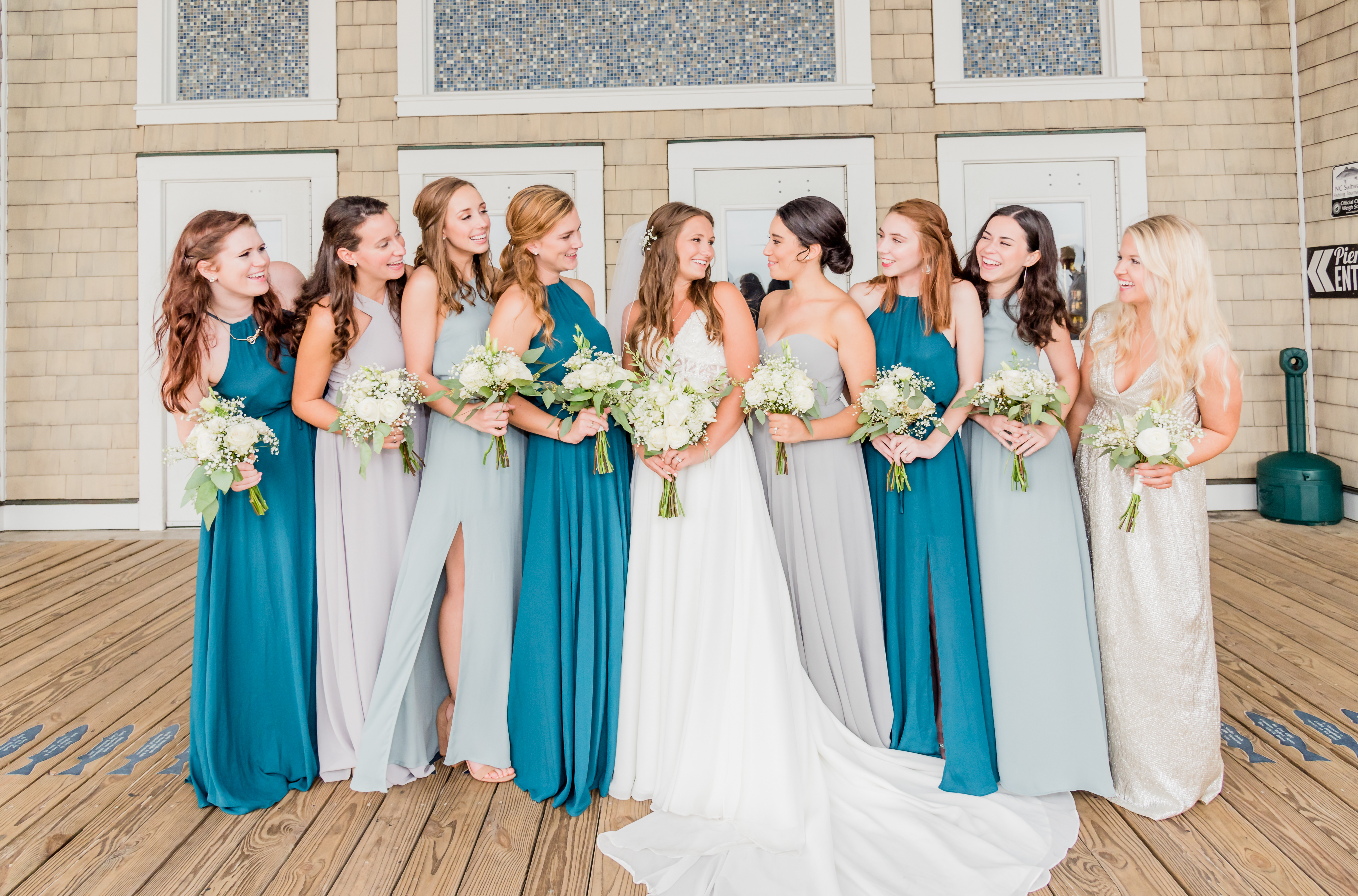 Teal_and_Grey_Wedding_Jennettes_Pier_Nags_Head_North_Carolina_Belle_Eve_Photography-141