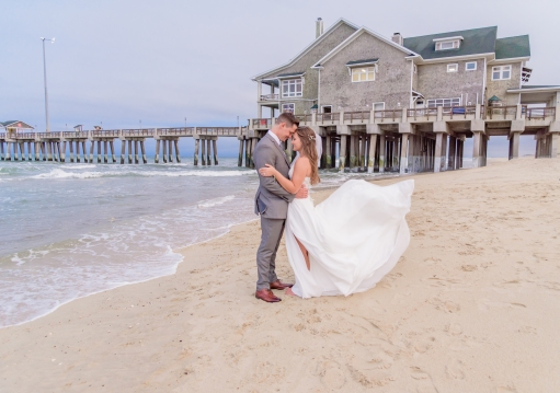 Teal_and_Grey_Wedding_Jennettes_Pier_Nags_Head_North_Carolina_Belle_Eve_Photography-174